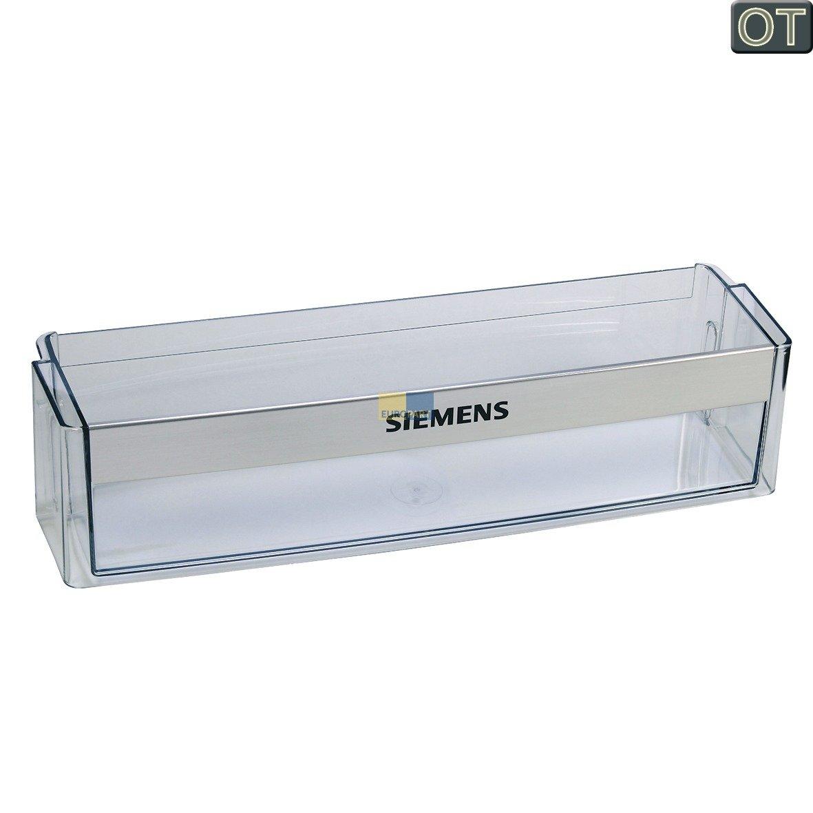 Siemens 705186 00705186 ORIGINAL Absteller Abstellfach Türfach Seitenfach Flaschenfach Flaschenhalter Flaschenabsteller Kühlschrank Kühlschranktür Aufdruck Siemens BSH-Gruppe