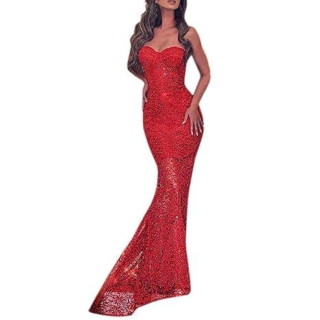 quality design 05961 43d90 Donna Vestito di Pizzo,Donna Abito Lungo,YanHoo Sexy Donnas ...