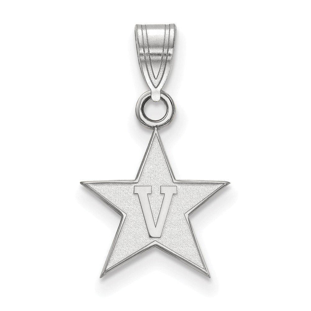 19 mm x 12 mm 925 Sterling Silver Officially Licensed Vanderbilt University College Small Pendant