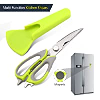 Kitchen Scissors Heavy Duty Pathonor Kitchen Shears High Carbon Stainless Steel ,Professional Multi-Purpose Poultry Shear Kitchen Scissors for Chicken, Poultry, Meat, Fish, Herbs, Vegetables, BBQ (Household Necessity)