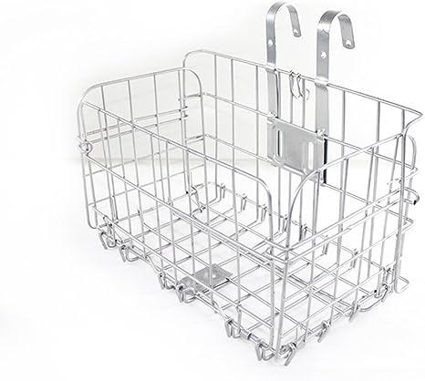 Bike Basket Wire Mesh Fold-Up Bicycle Front Handlebar Storage Rear Hanging