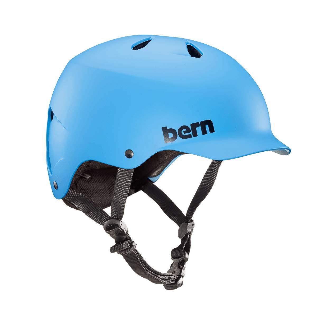 Bern Watts Helmet - Matte Cyan Blue Small