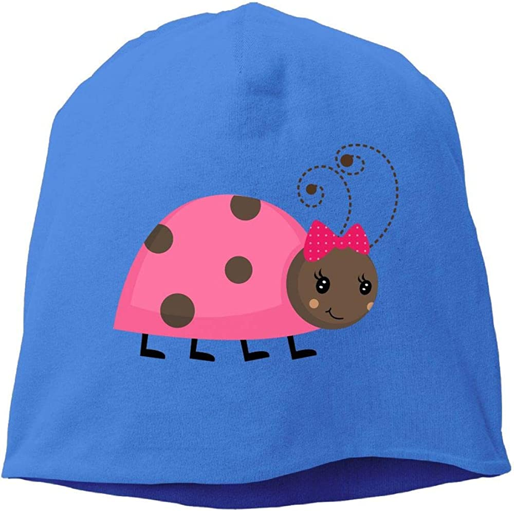 Janeither Headscarf Cute Ladybug Hip-Hop Knitted Hat for Mens Womens Fashion Beanie Cap