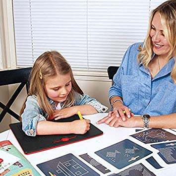 avec Stylo Magique Tablette Magnetique Tablette Billes Magn/étiques L/écriture Tablette STEM Jouet Jouet Cadeau pour Enfants Tawcal Planche /à Dessin Magn/étique