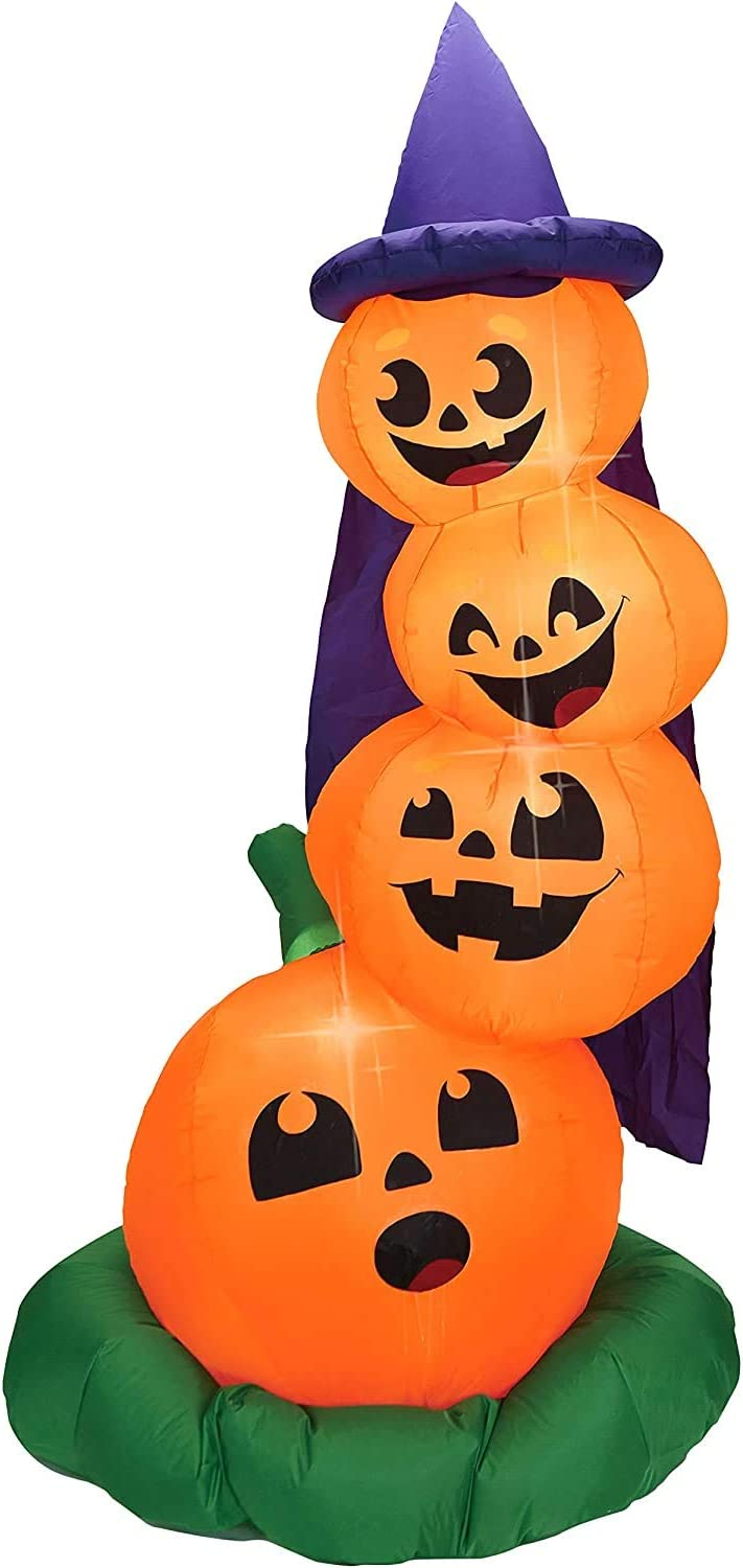 Joiedomi Halloween 6 FT Inflatable Stacked Pumpkins with Build-in LEDs Blow Up Inflatables for Halloween Party Indoor, Outdoor, Yard, Garden, Lawn Decorations