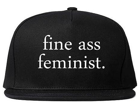 Amazon.com  FASHIONISGREAT Fine Ass Feminist Womens Snapback Hat ... 554253d6be65