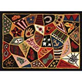 M C G Textiles Heritage Rug Hooking Screen, 20-Inch by 27-Inch, Victorian Patches