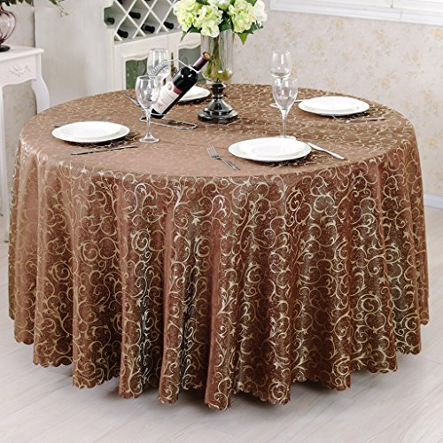Hyun times Tablecloth Hotel Continental Dining Table Cloth Fashion Round Table Table Coffee Table Coffee Table Wallpaper ( Color : C , Size : 220 cm )