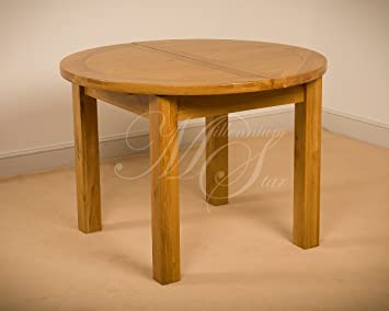 Clovelly Msl Solid Wood Chunky Oak Round Extending Dining Table