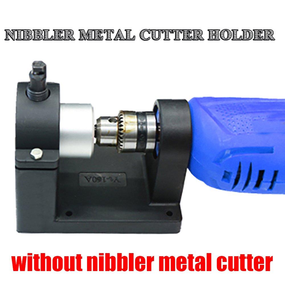 Werkstatt-Werkzeug Metallschneideger/äte Doppelkopf-Halterung f/ür Nibbler nur Halter wie im Hauptbild gezeigt, ohne Schneider