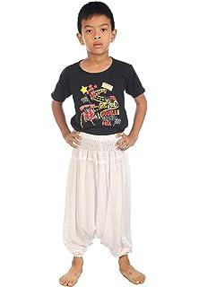 LOFBAZ Kids Harem Thai Aladdin Pirate Children Pants Bohemian Baggy Hippy Child
