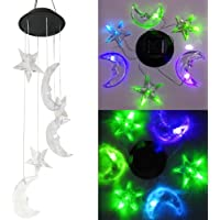LEDMOMO Wind Chimes LED Solar Color Changing Wind Spinner Lamp for Outdoor Home Party Balcony Porch Patio Garden Decoration