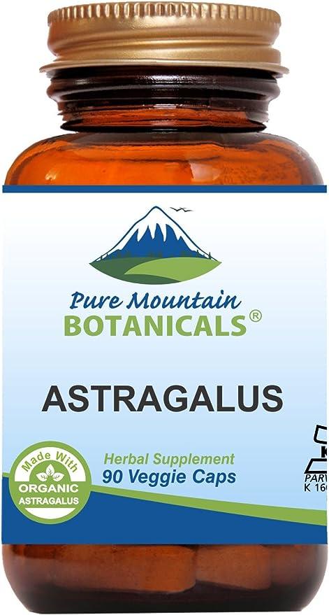Pure Mountain Botanicals Astragalus Root Capsules