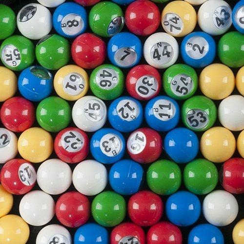 Bingo Ball Set - Multi Colored Plastic