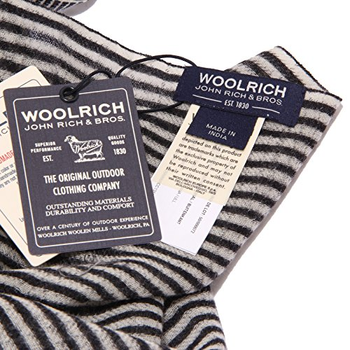 nero Scarf Woolrich Bianco Woman Sciarpa Wool White Donna Black 1097w 6fFfpqR4z