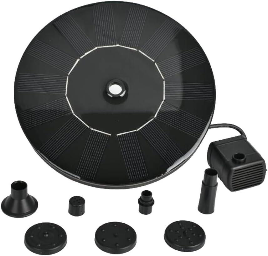 Black Homyl Solar Fountain Pump,Solar Birdbath Fountain,Solar ...