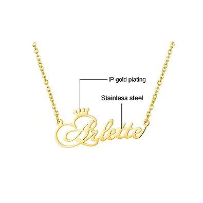 Amazon.com: Collar personalizable con nombre de la corona y ...