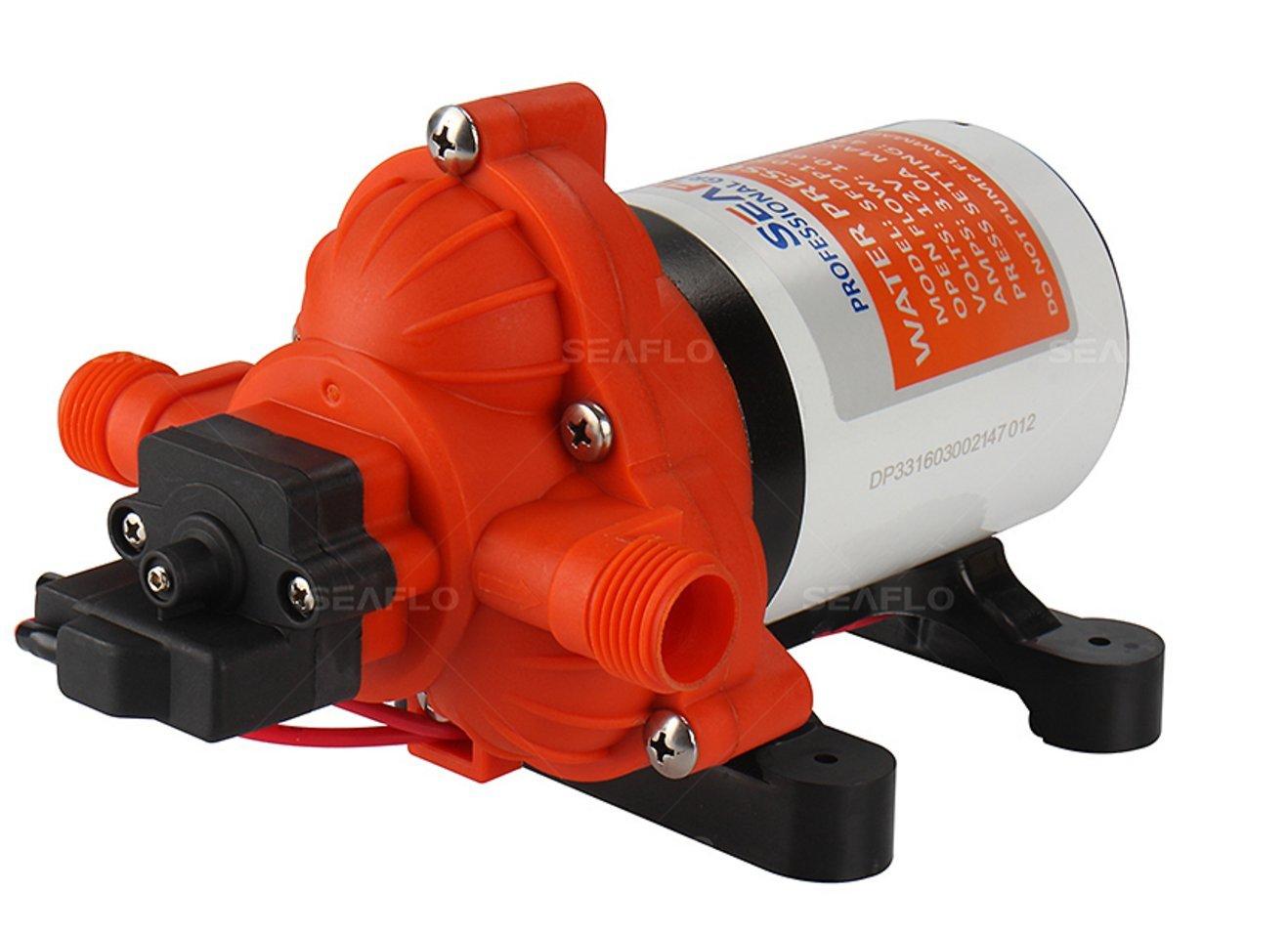 SEAFLO DC Diaphragm Pump - 12v, 3.5 GPM, 45PSI w/ Automatic Switch