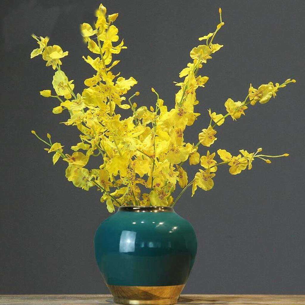HBJP セラミック花瓶装飾リビングルームデスクトップ花瓶装飾ドライフラワー花瓶グリーン 花瓶 (サイズ さいず : 16cm×19cm) B07S58KMCD  16cm×19cm