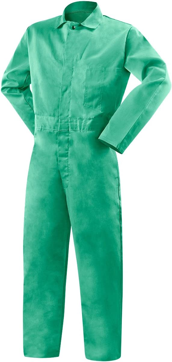 32 Inseam 2X-Large Steiner 1035AF-2X Arc ProTech 9-Ounce Cotton Resistant Green Coveralls