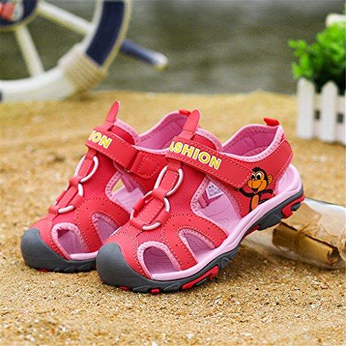 GEERBU - Sandalias deportivas de Material Sintético para niño Rosa