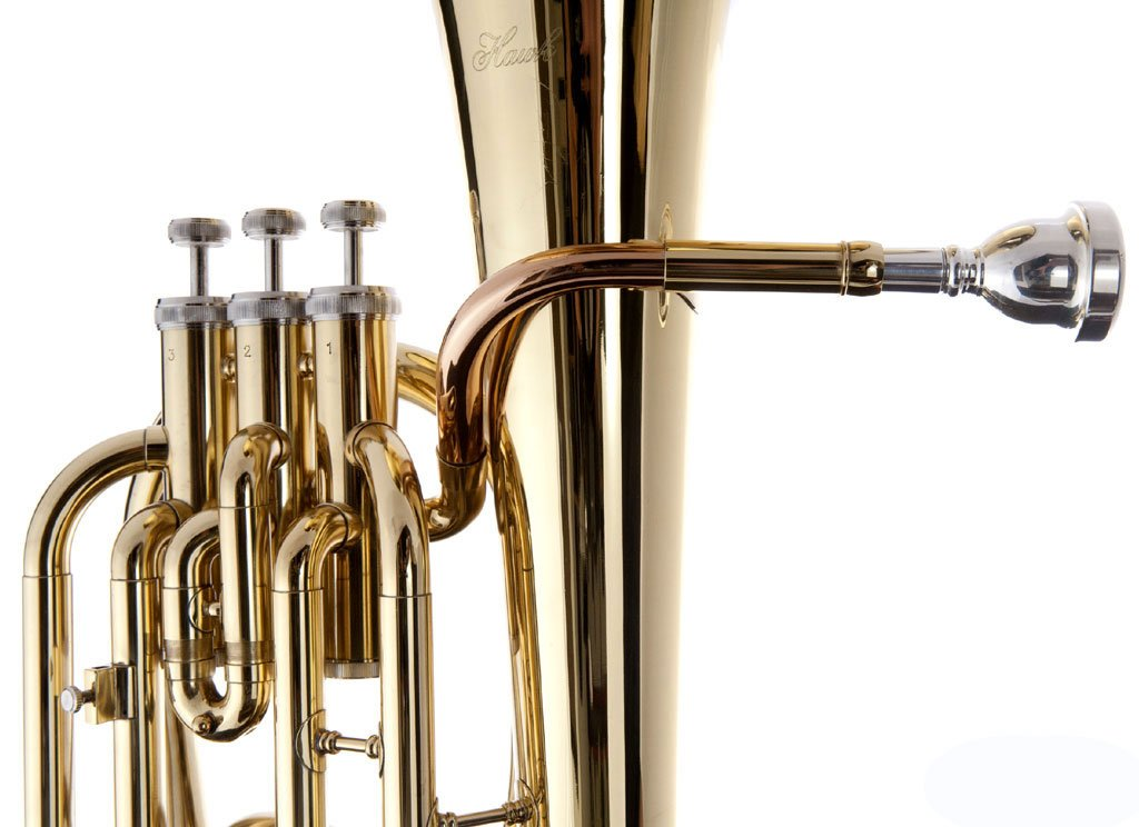 Hawk SBAR Student 3-Valves Lacquered Baritone Horn, Gold by Hawk (Image #4)