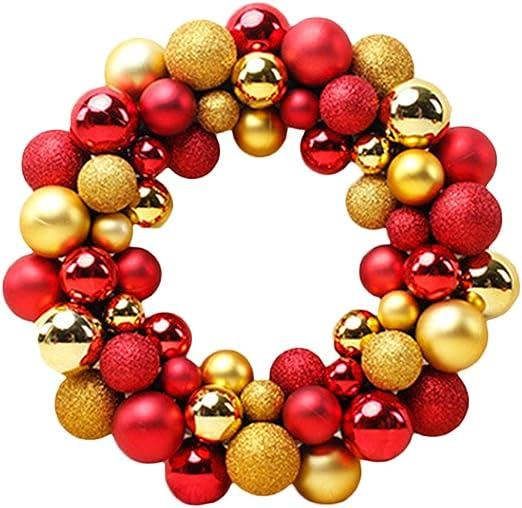smallwoodi Xmas Balls,55Pcs//Set Christmas Balls Garland Wreath Home Party Hanging Decor Xmas Supply Pendant Christmas Decoration