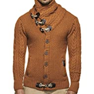 Mens Sweaters Turtleneck Cable Knit Button Down Cardigans Chunky Casual Fall Winter Jackets Coats