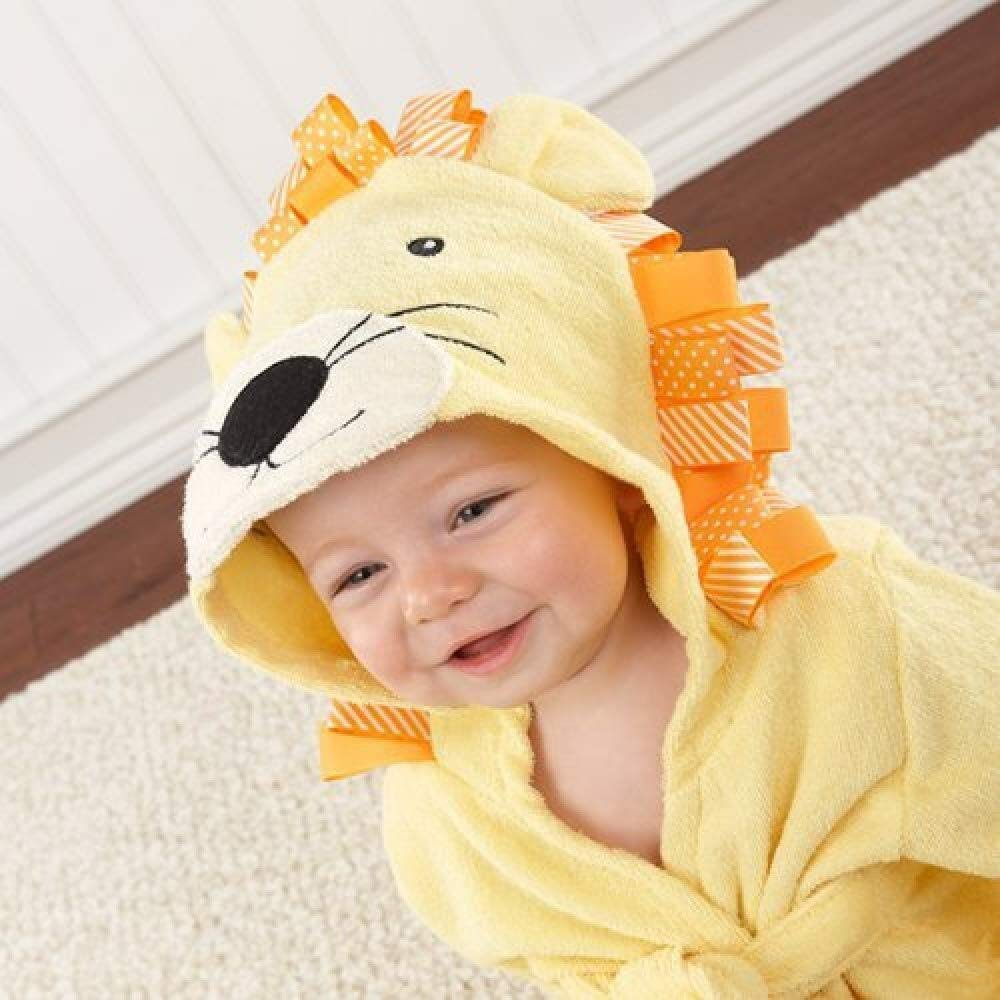 ETERLY Hooded 6 pieces/lot-17 Designs Hooded Animal Modeling Baby Bathrobe/Cartoon Baby Towel/Character Kids Bath Robe/Infant Bath Towel (Color : Yellow Lion, Size : M(2-3year Old)) by ETERLY
