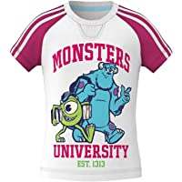 adidas Disney University Girl T-Shirt Monster - Blanco/Rosa