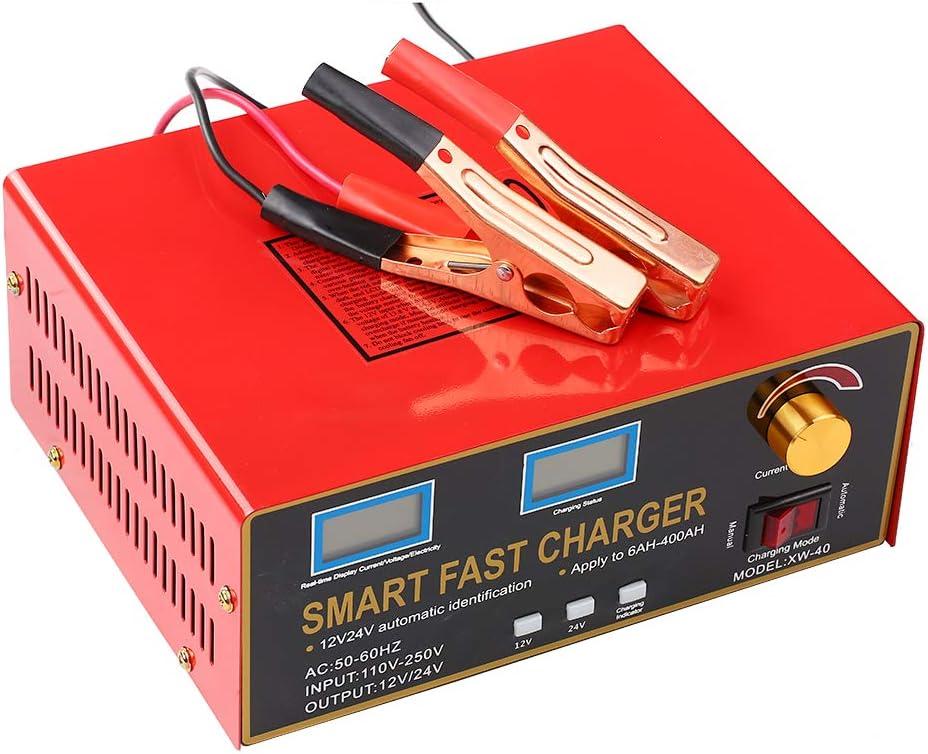 Zitainn Smart Battery Charger,12V//24V 23A//18A 600W 6AH-400AH Smart Pulse Repair Battery Charger and Maintainer