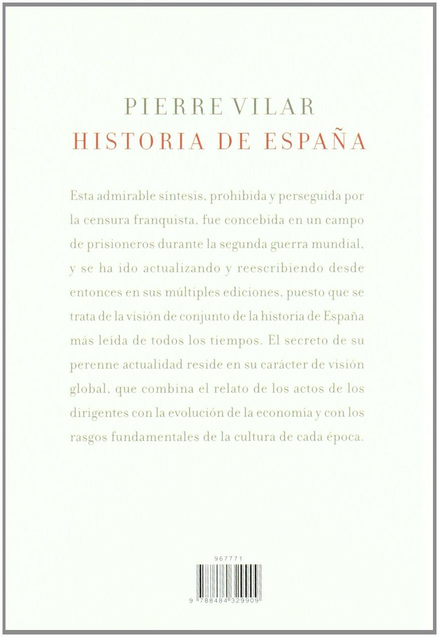 Historia de España: Amazon.es: Vilar, Pierre: Libros