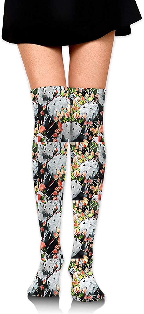 Womens//Girls Cactus Bouquet Casual Socks Dresses Over The Knee High Socks 23.6