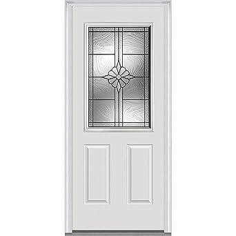 National Door Company ZA21391L Fiberglass Smooth Prehung Left Hand In Swing  Entry Door, 1