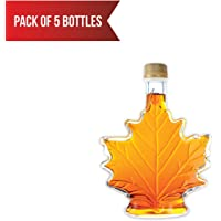 Pure, Organic Canadian Maple Syrup (5 X 50ml Bottles.) All-Natural, Grade-A Light Amber | Delicious Sweetness | No Preservatives, Gluten Free, Vegan Friendly