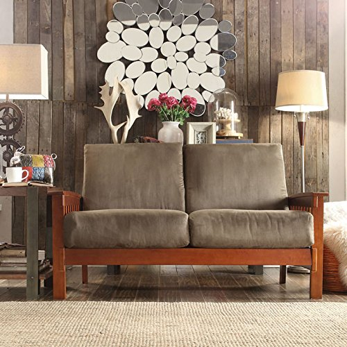 Solid Oak Mission Loveseat