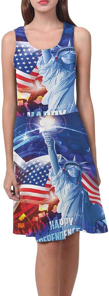 INTERESTPRINT Independence Day Statue of Liberty Kids T-Shirt XS-XL