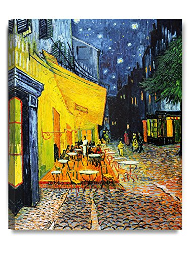 Canvas Prints Kitchen (DecorArts - Cafe Terrace At Night, Vincent Van Gogh Art Reproduction. Giclee Canvas Prints Wall Art for Home Decor 20x16