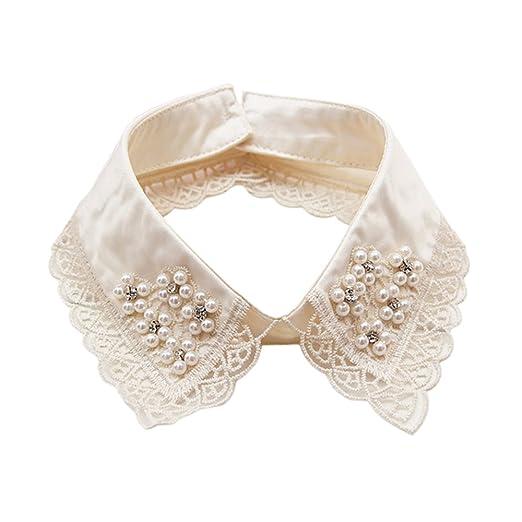 Women's Ties & Handkerchiefs New White Womens Girls Lace Fake False Collar Lapel Choker Peter Pan Necklace