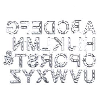 Plantillas de metal con las letras del alfabeto, para manualidades, álbum de recortes,