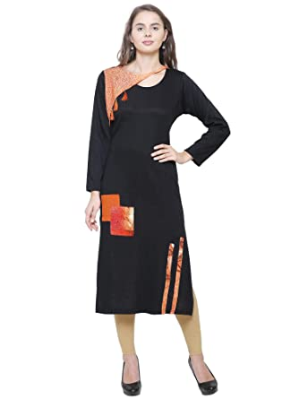 4b76cee9612 Rosary Attractive Wool Printed Kurta For Women Winter Wear  Amazon ...