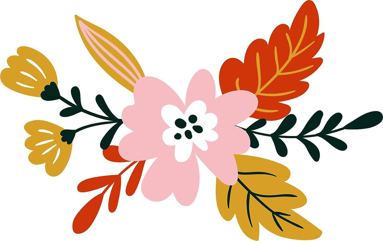 Amazon Com Cute Flower Boquet Header Footer Border Design Vinyl