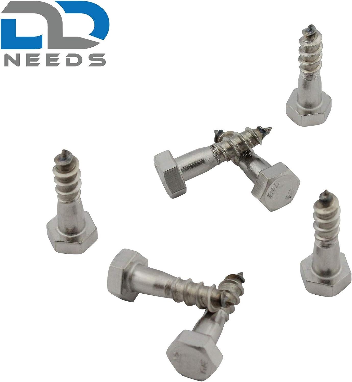 8 x 60 mm en acier inoxydable DIN 571 A2 VA D2D Unit/é demballage: 10 pi/èces est une vis /à bois hexagonale