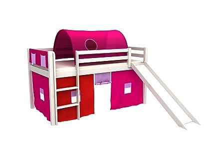 Letti A Castello Con Scivolo : Letto per bambini con scivolo letto a castello tunel tasche tenda