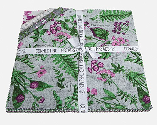 Connecting Threads Collection Precut Quilting Fabric Bundle (Botanical Blooms - 10