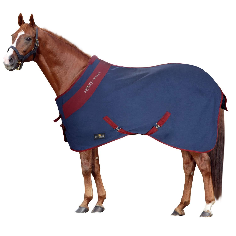 la migliore moda Horses Coperta Cotone Maddy 2 2 2 Blu Bordeaux 155 cm  comprare a buon mercato
