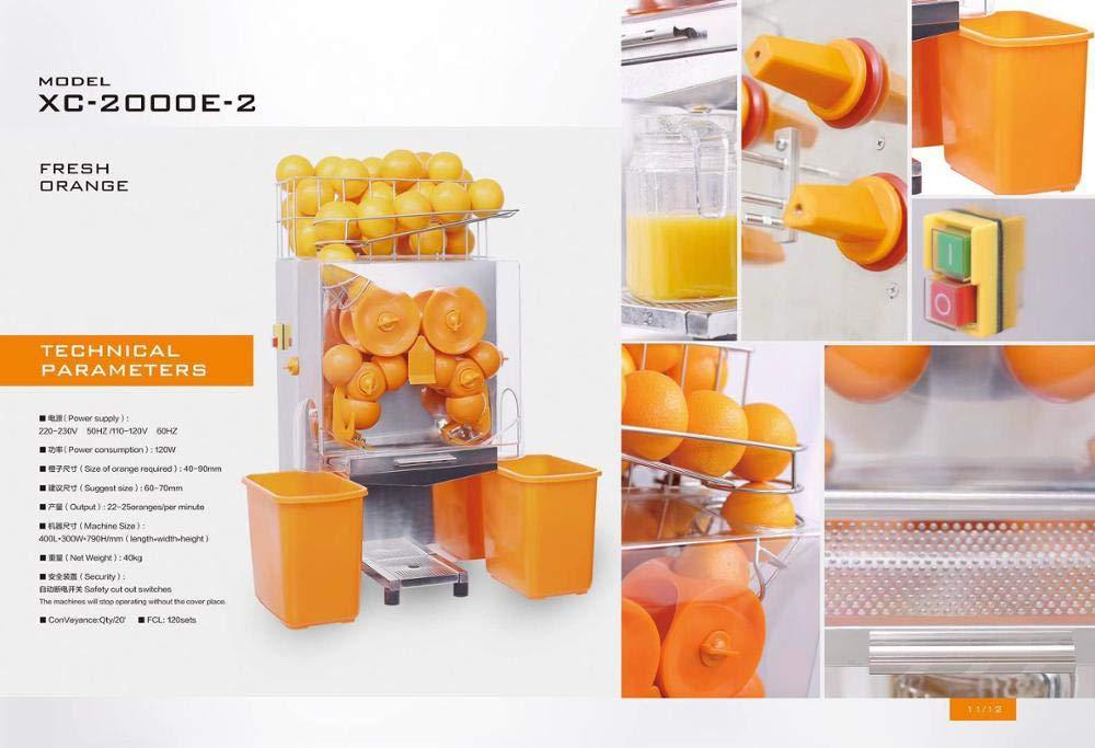 Naranja industrial del extractor del jugo del zumo de fruta que ...