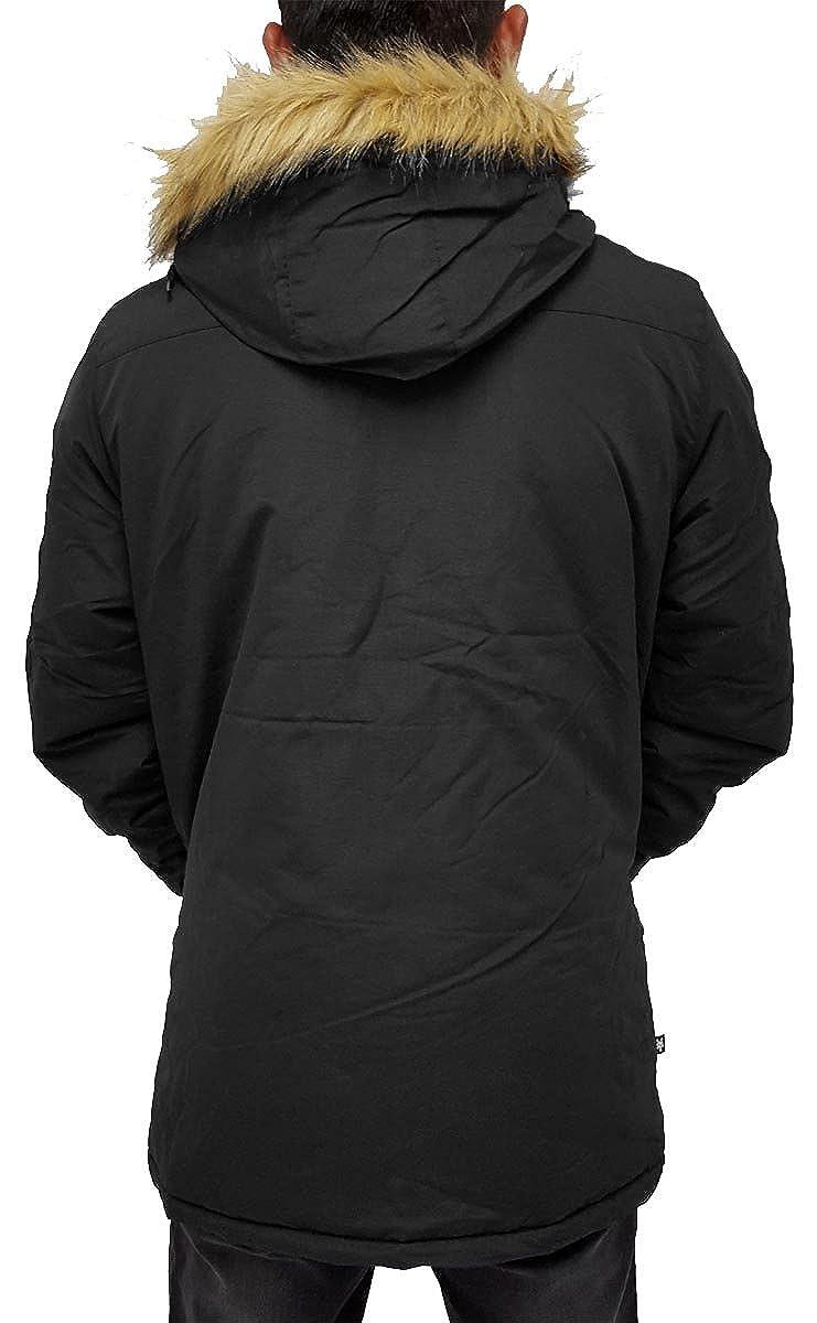Ecko Mens Boys Pilot Parka Puffer Padded Hooded Winter Jacket Hip Hop (XL, Black) at Amazon Mens Clothing store: