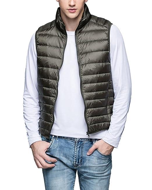 free shipping 42dc4 7d7fa ZhuiKun Mens Lightweight Down Puffer Gilet Sleeveless Jacket Quilted Body  Warmer Coat