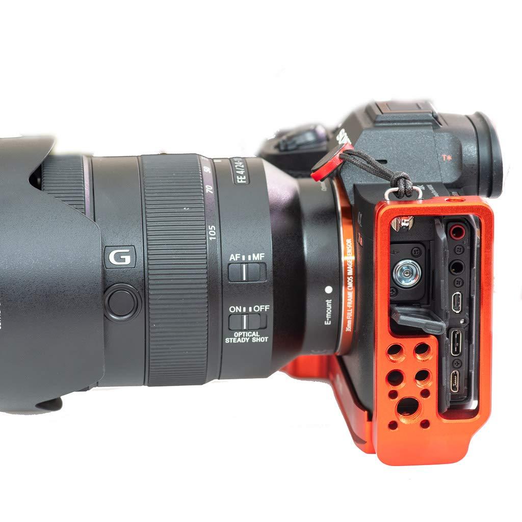 Stabil LSIV - L Plate (Bracket) for Sony A7RIV (Orange) by Bombo